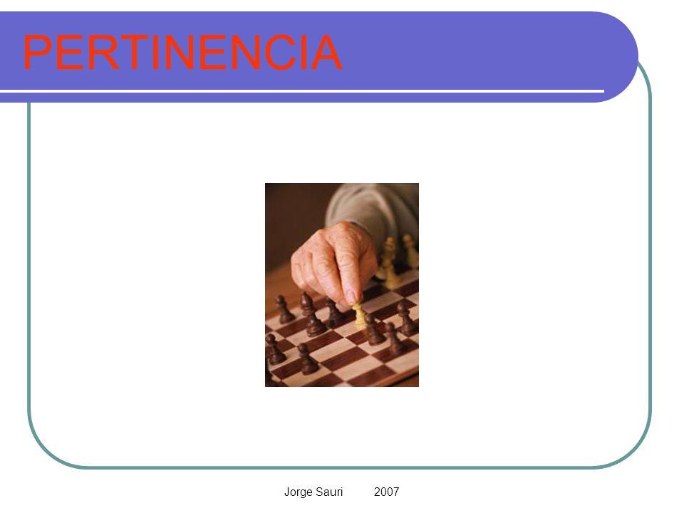 PERTINENCIA Jorge Sauri 2007