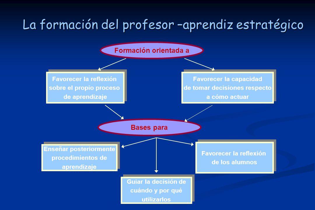 La formación del profesor –aprendiz estratégico
