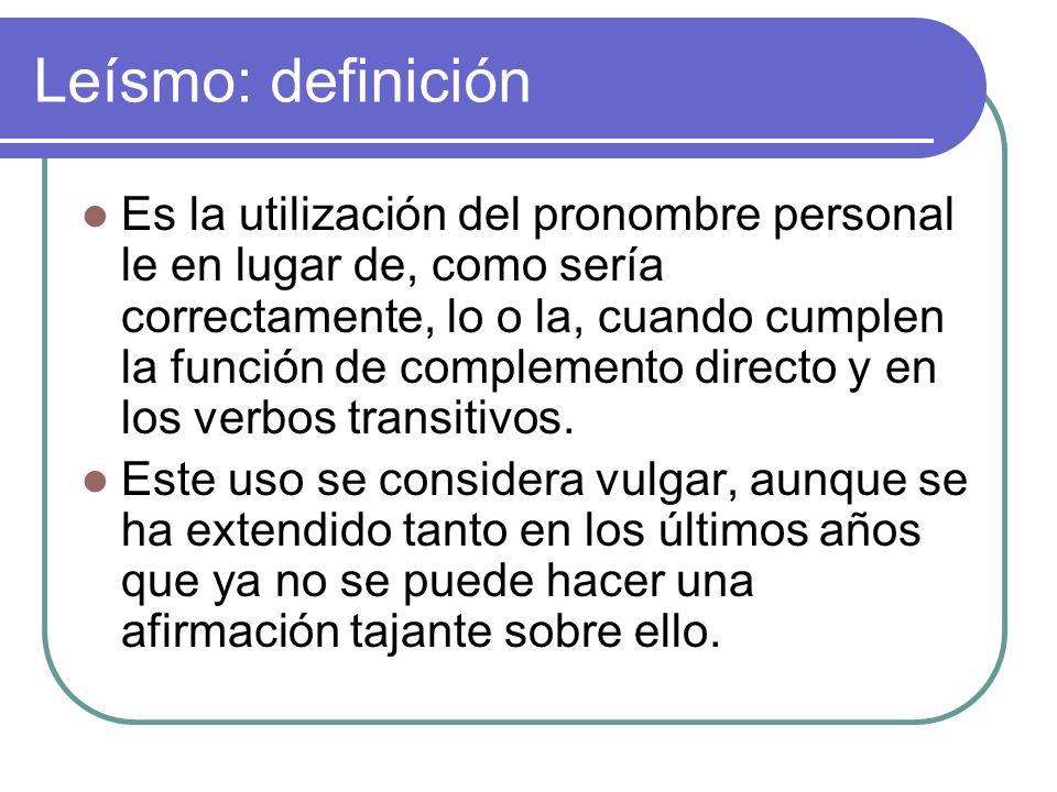 Leísmo: definición