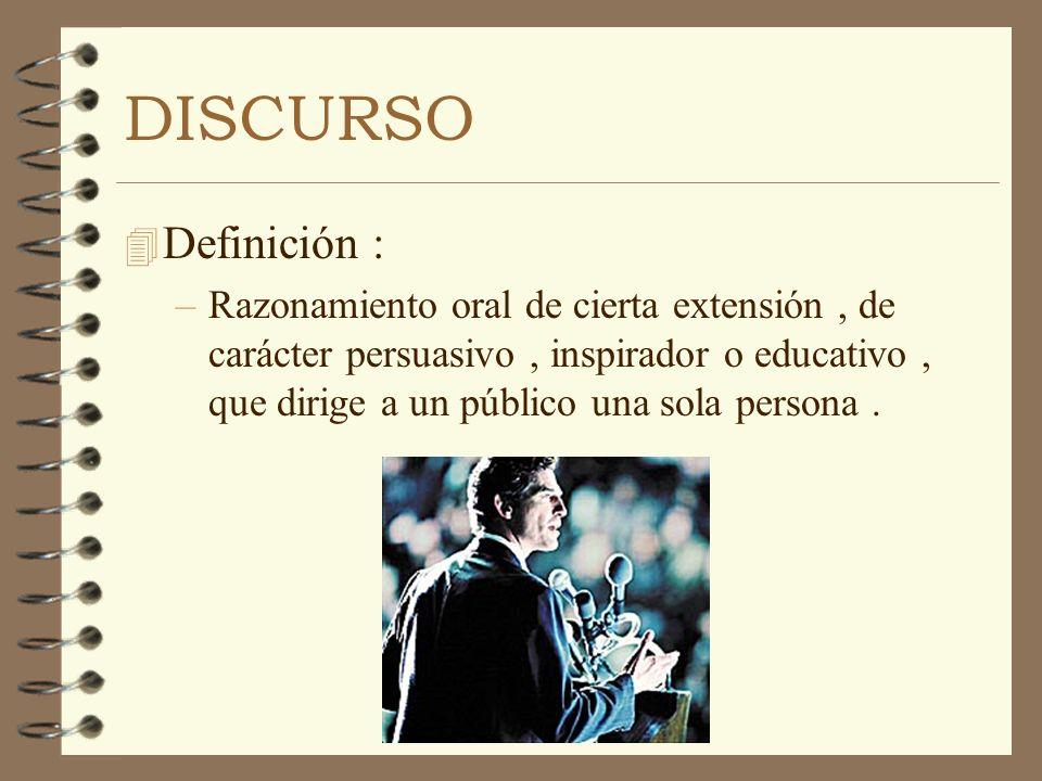DISCURSO Definición :