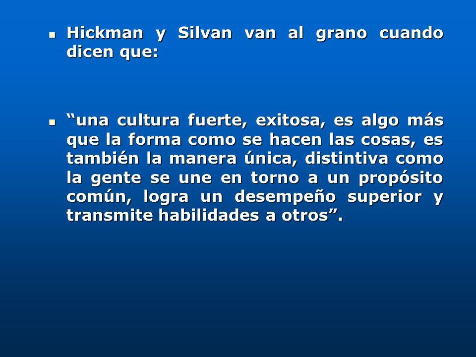 Hickman y Silvan van al grano cuando dicen que: