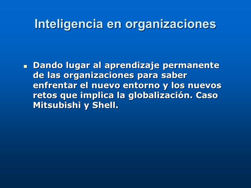Inteligencia en organizaciones