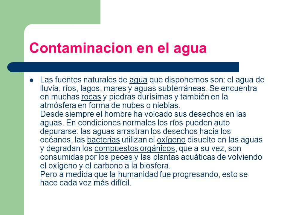 Contaminacion en el agua