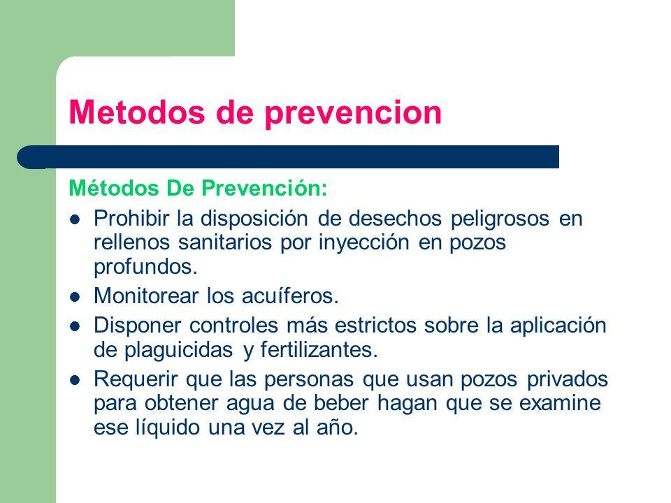 Metodos de prevencion Métodos De Prevención: