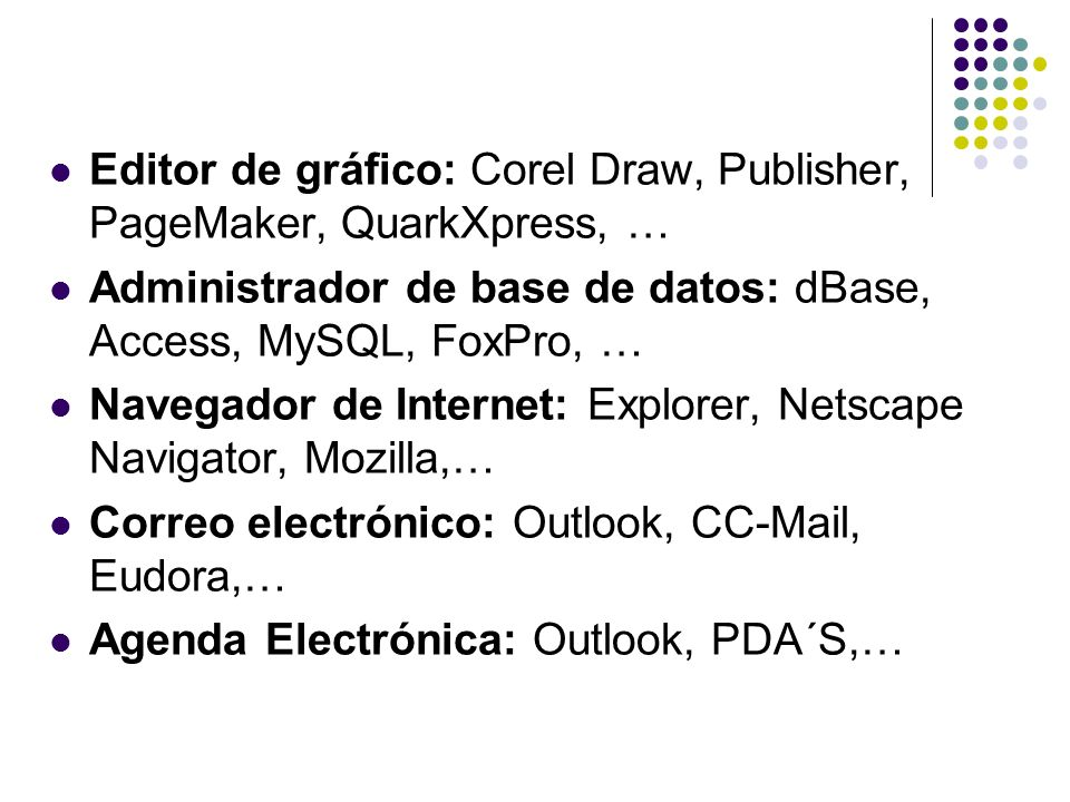 Editor de gráfico: Corel Draw, Publisher, PageMaker, QuarkXpress, …