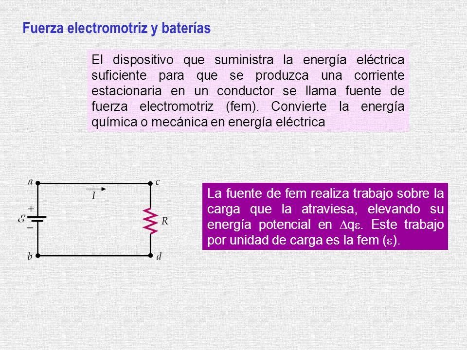 Fuerza electromotriz y baterías