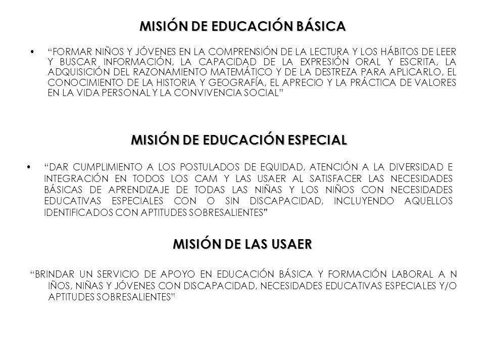 MISIÓN DE EDUCACIÓN BÁSICA