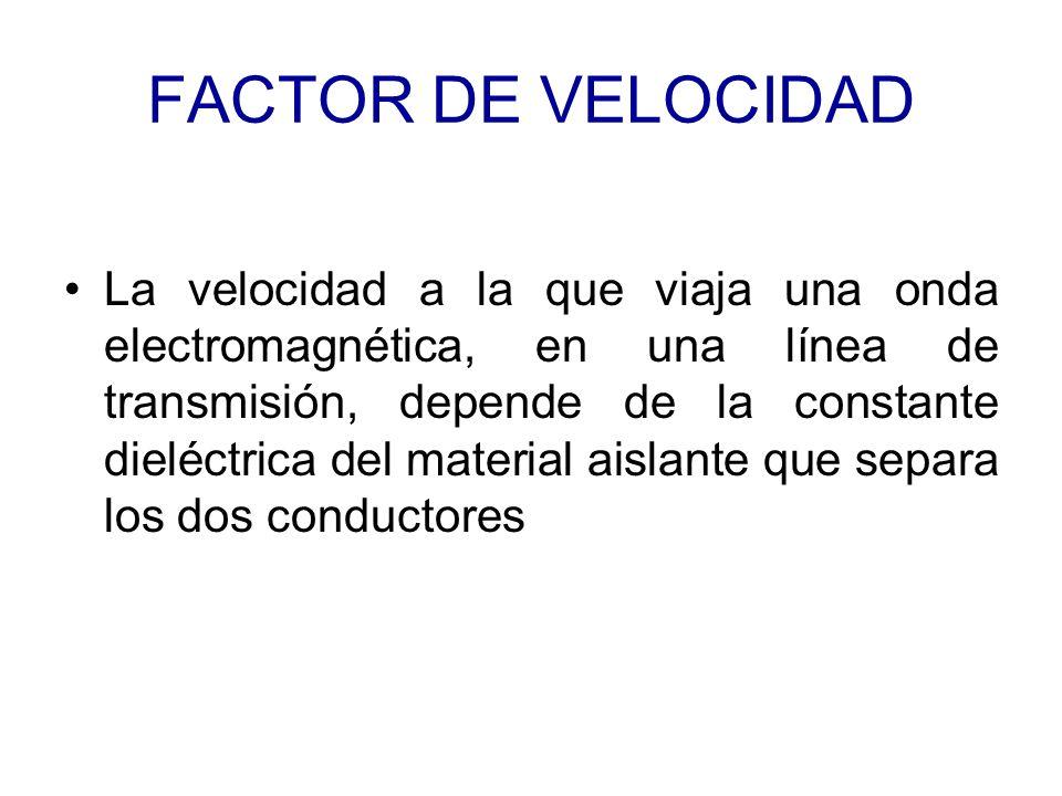 FACTOR DE VELOCIDAD