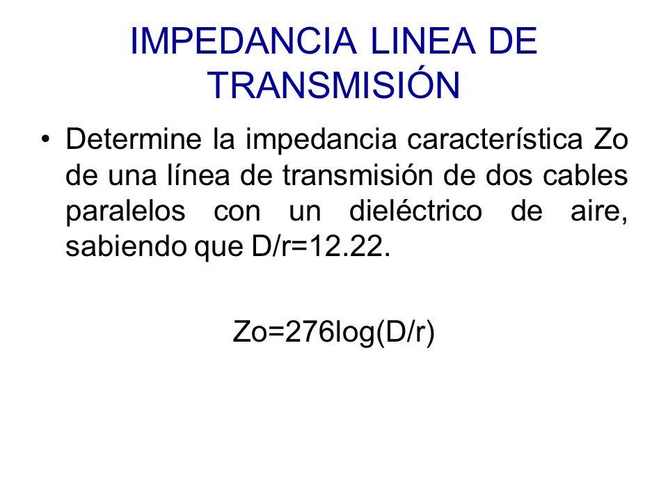 IMPEDANCIA LINEA DE TRANSMISIÓN