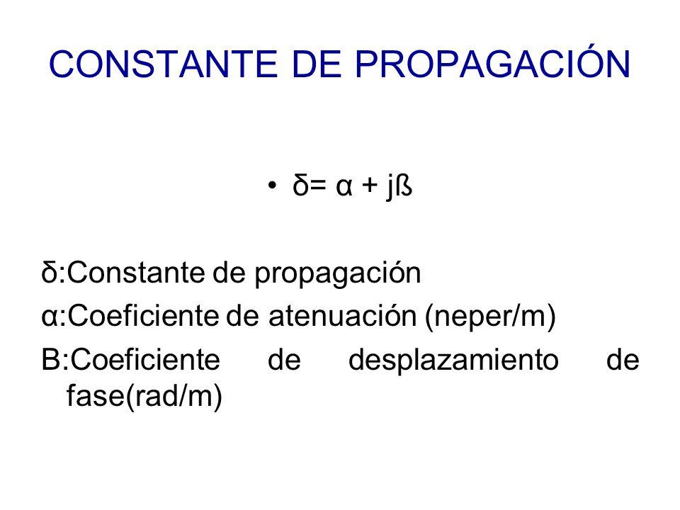 CONSTANTE DE PROPAGACIÓN
