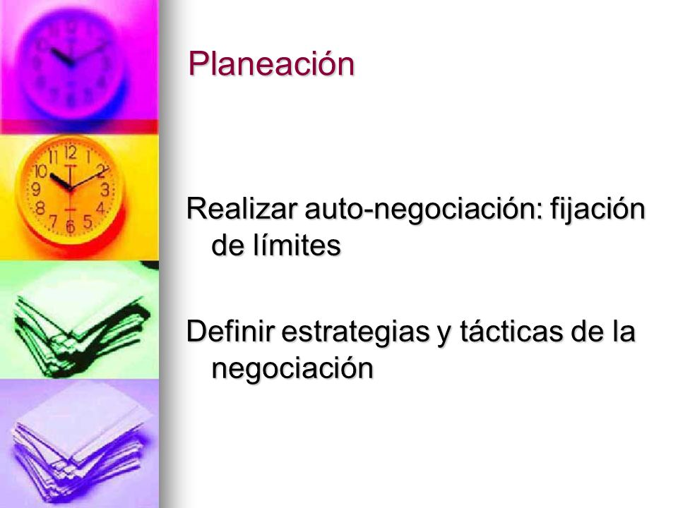 Planeación Realizar auto-negociación: fijación de límites