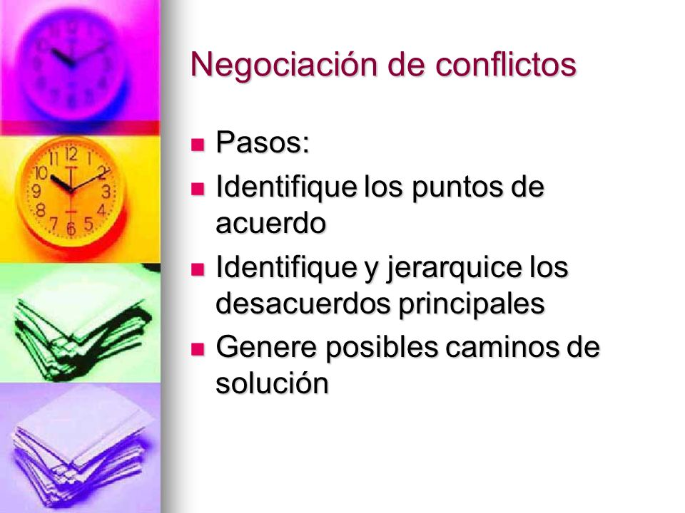 Negociación de conflictos