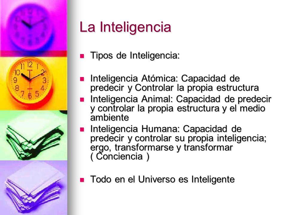 La Inteligencia Tipos de Inteligencia: