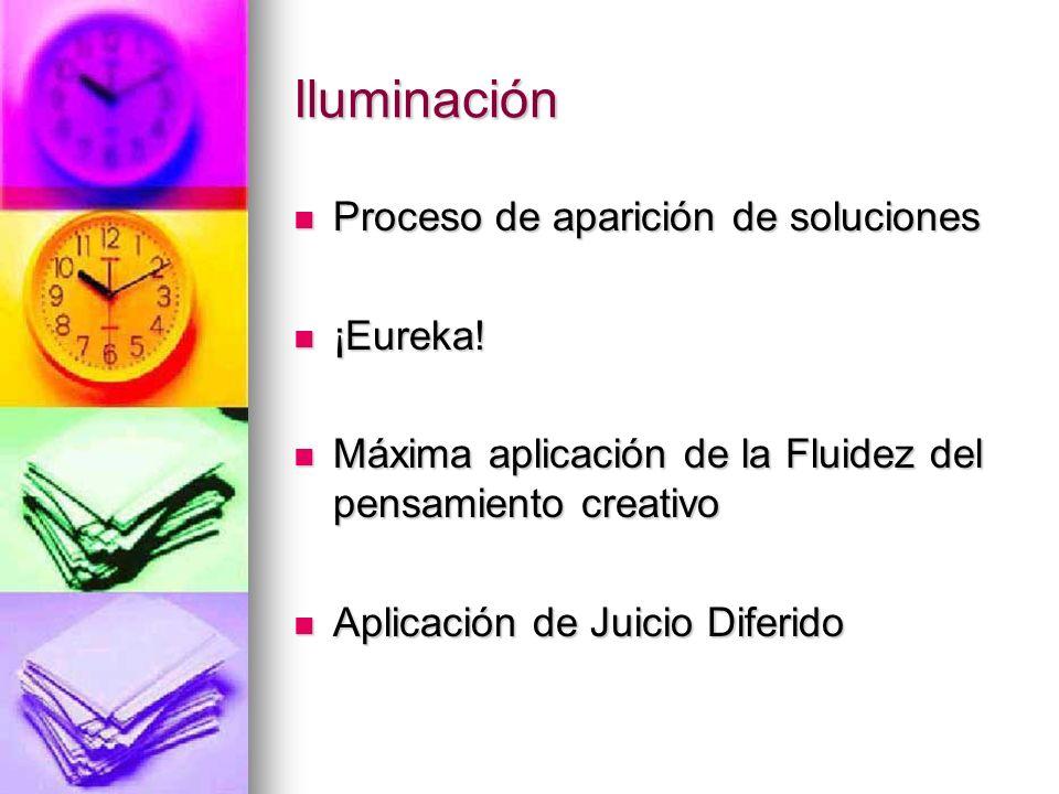 Iluminación Proceso de aparición de soluciones ¡Eureka!