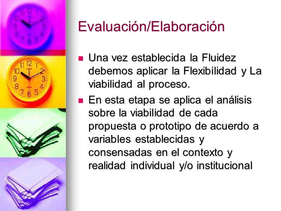 Evaluación/Elaboración