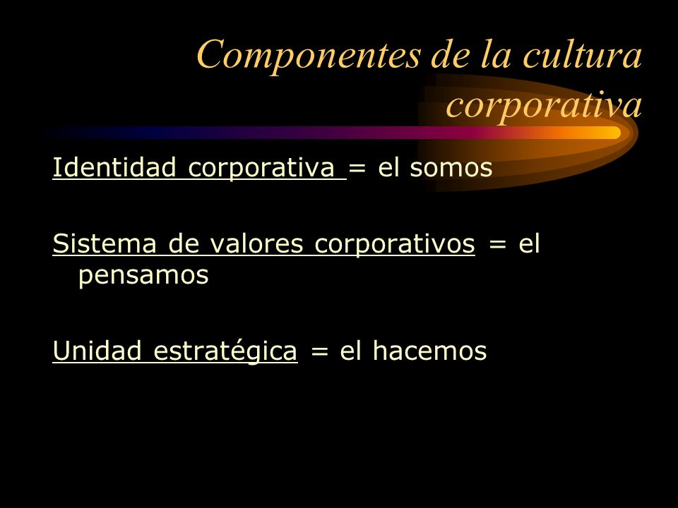 Componentes de la cultura corporativa