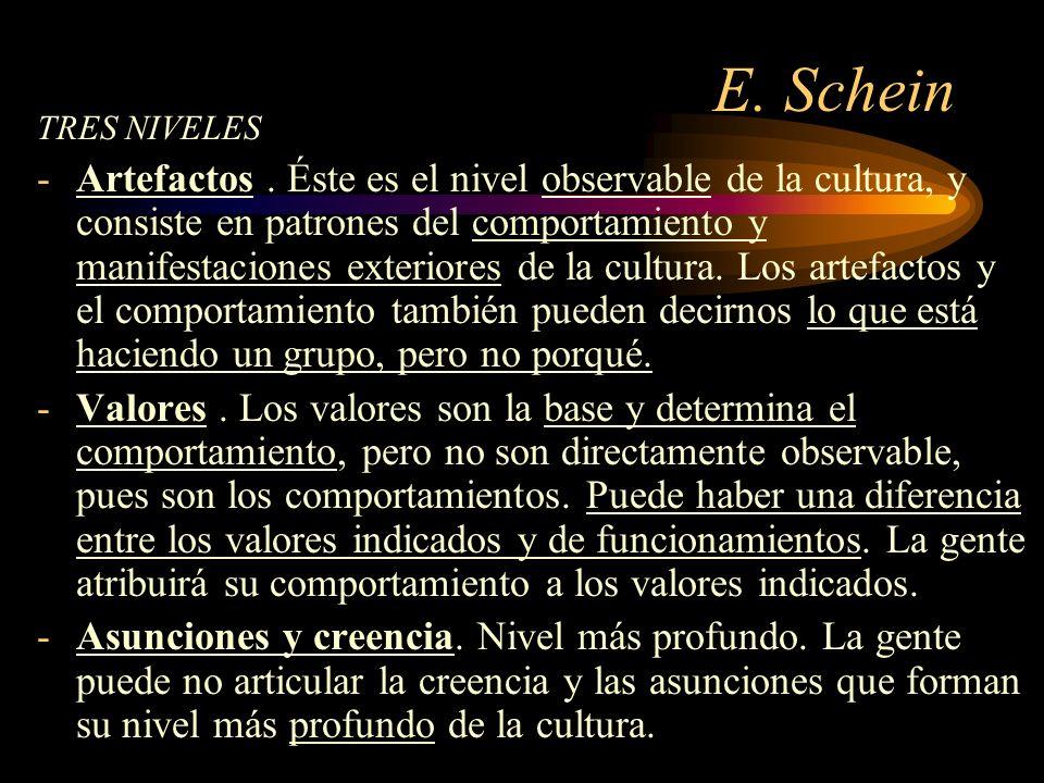 E. Schein TRES NIVELES.