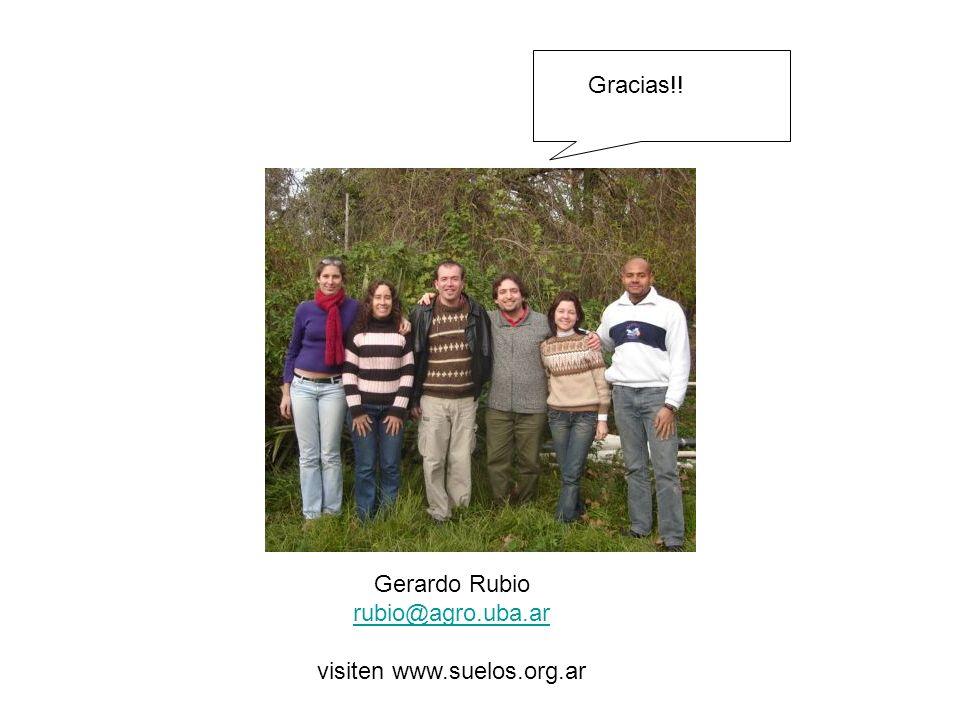 Gerardo Rubio rubio@agro.uba.ar