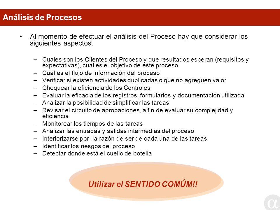 Utilizar el SENTIDO COMÚM!!