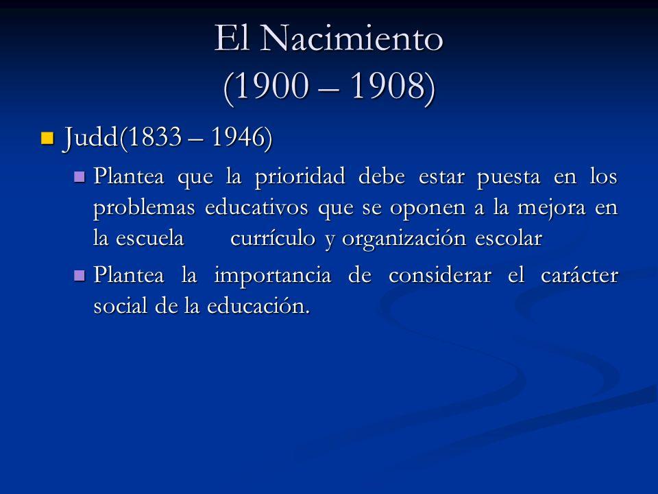 El Nacimiento (1900 – 1908) Judd(1833 – 1946)