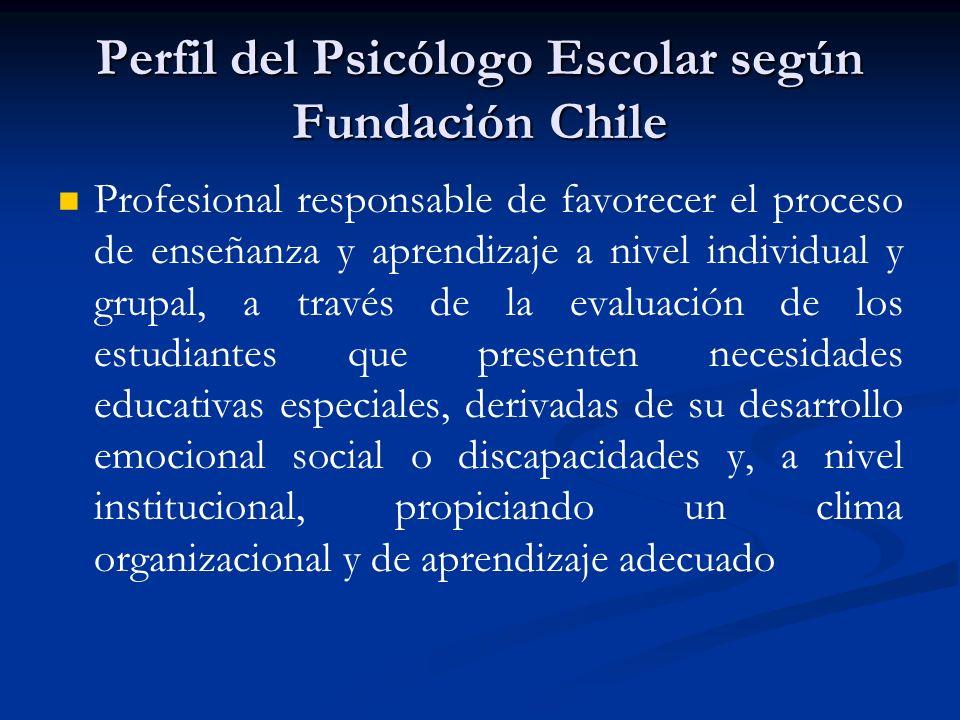 Perfil del Psicólogo Escolar según Fundación Chile