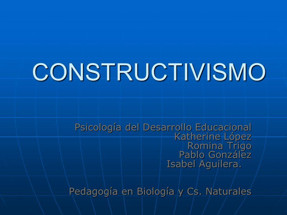 CONSTRUCTIVISMO Psicología del Desarrollo Educacional Katherine López