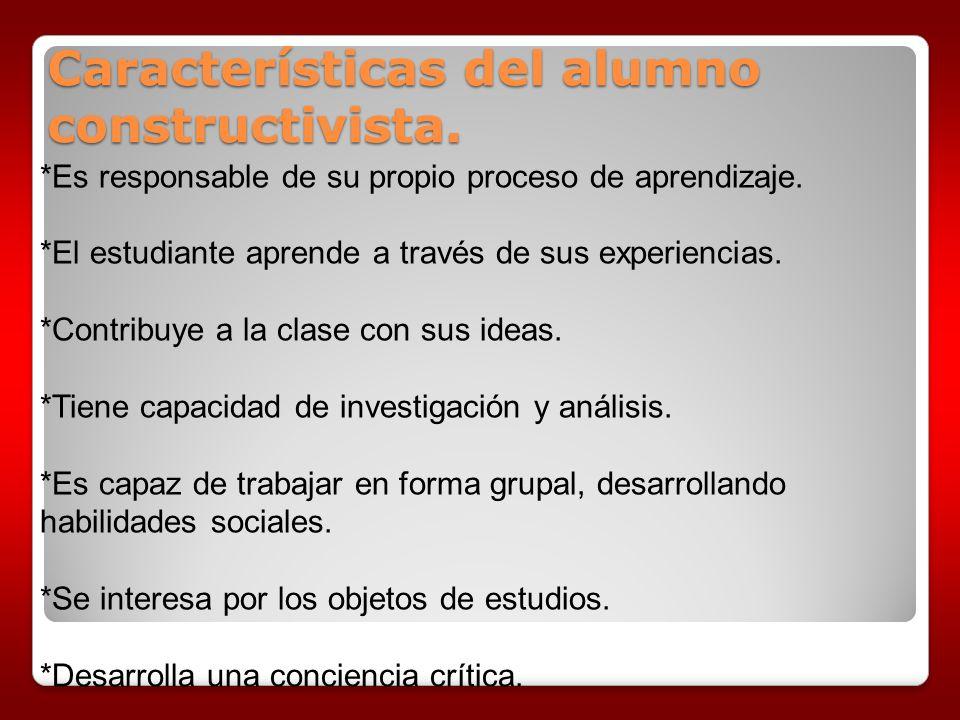 Características del alumno constructivista.