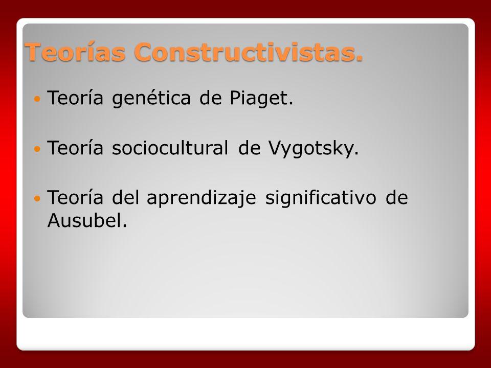 Teorías Constructivistas.