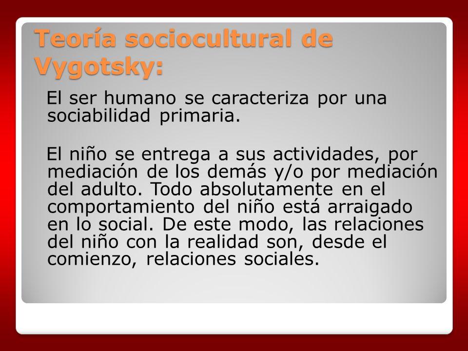 Teoría sociocultural de Vygotsky: