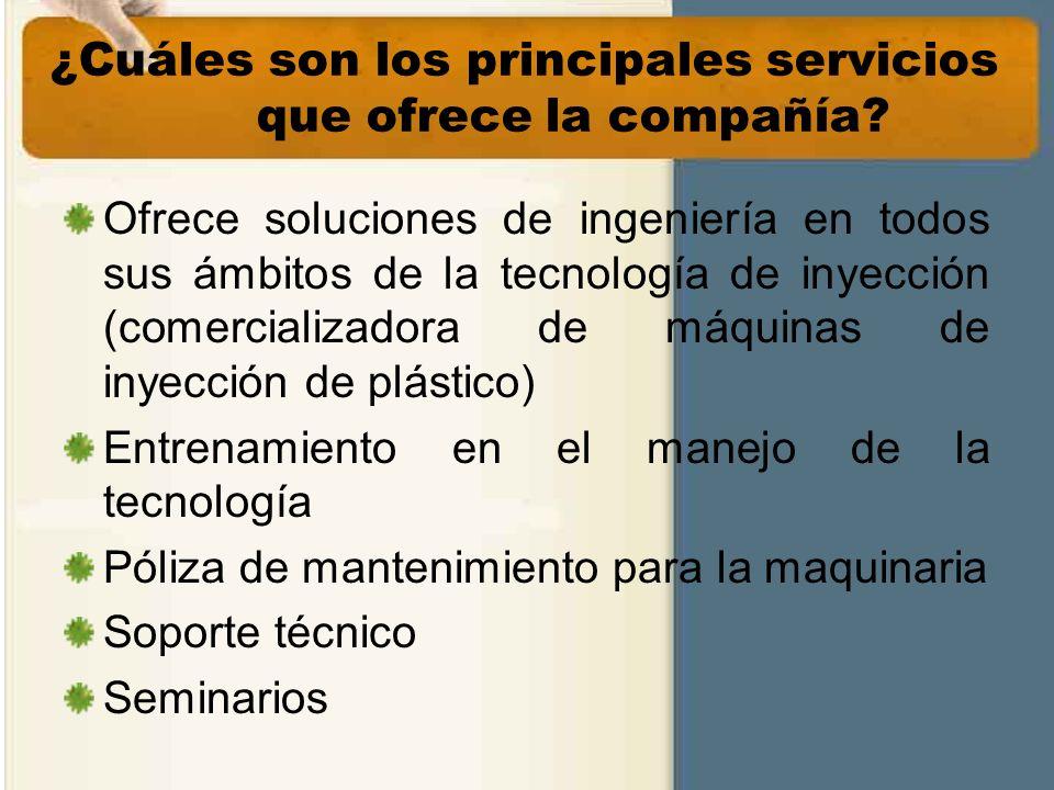 ¿Cuáles son los principales servicios que ofrece la compañía