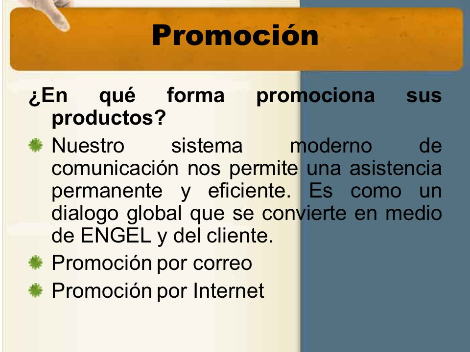Promoción ¿En qué forma promociona sus productos