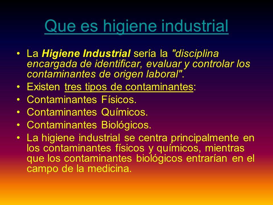 Que es higiene industrial
