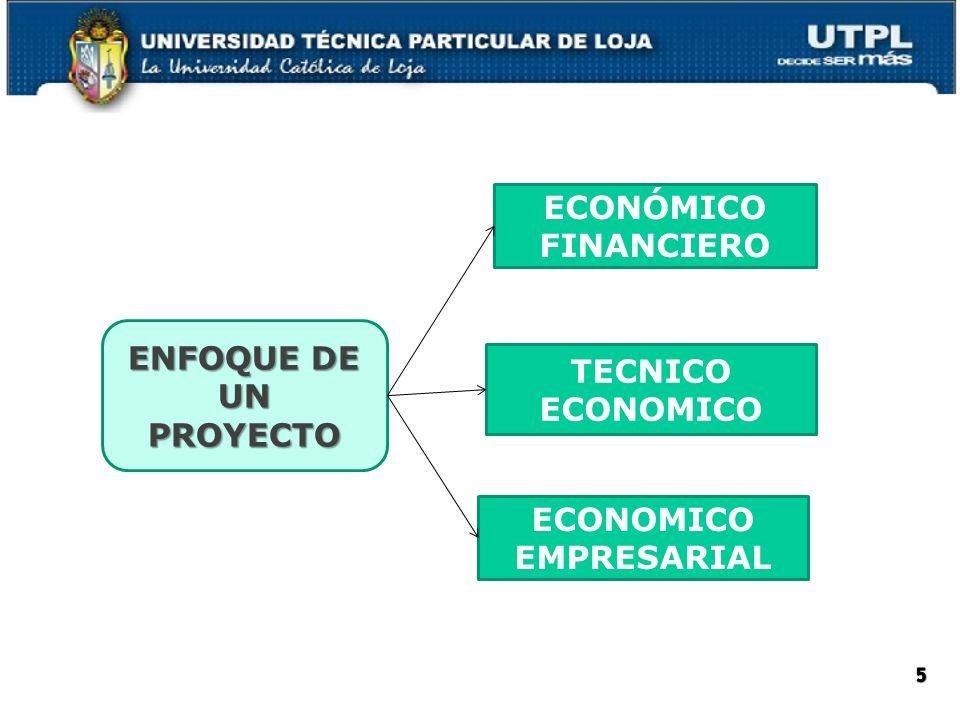 ECONÓMICO FINANCIERO ENFOQUE DE UN PROYECTO TECNICO ECONOMICO