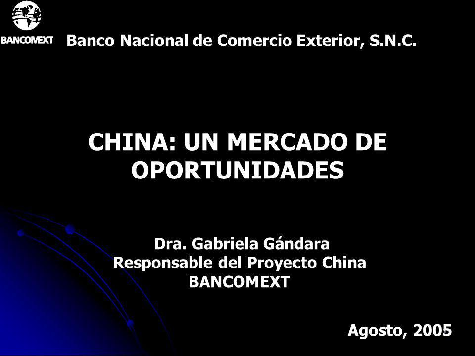 CHINA: UN MERCADO DE OPORTUNIDADES