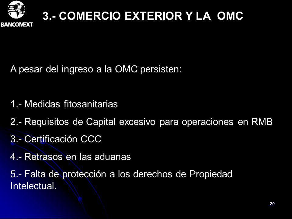 3.- COMERCIO EXTERIOR Y LA OMC
