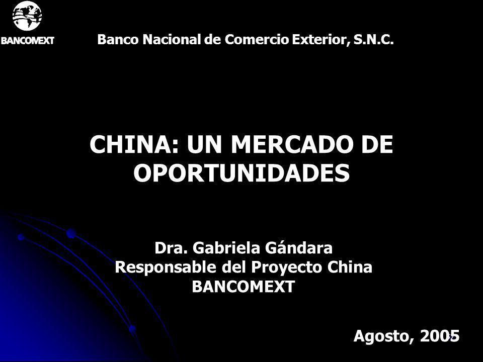 CHINA: UN MERCADO DE OPORTUNIDADES