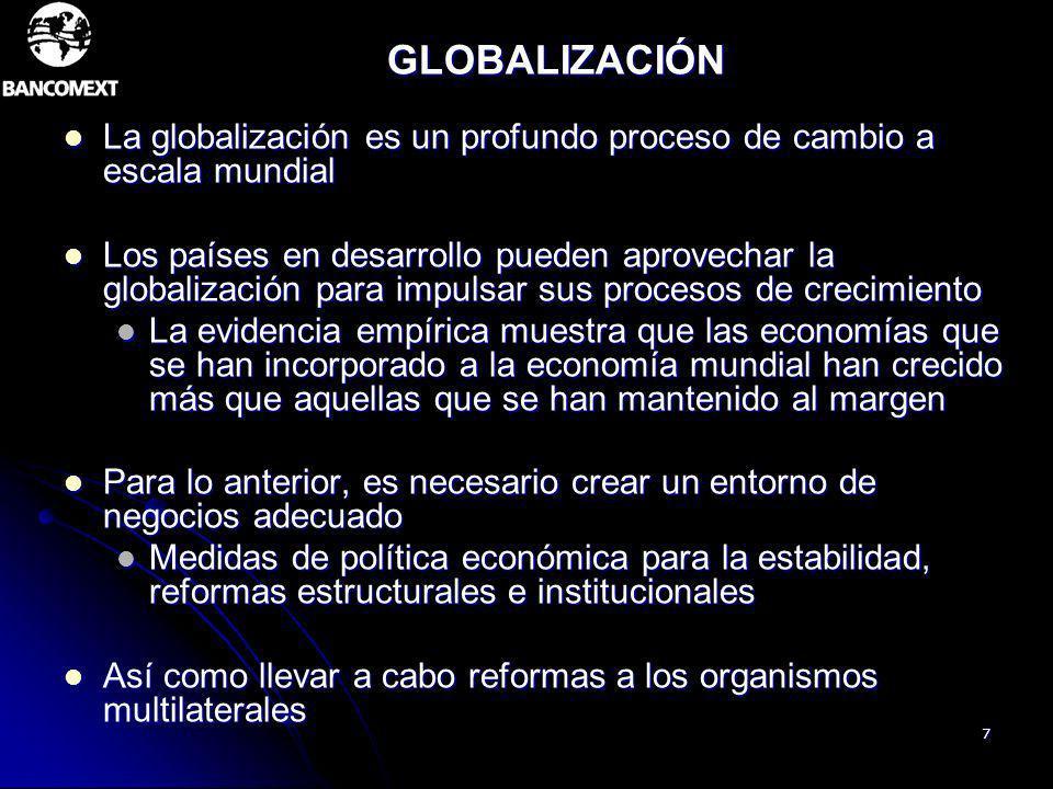 GLOBALIZACIÓNLa globalización es un profundo proceso de cambio a escala mundial.