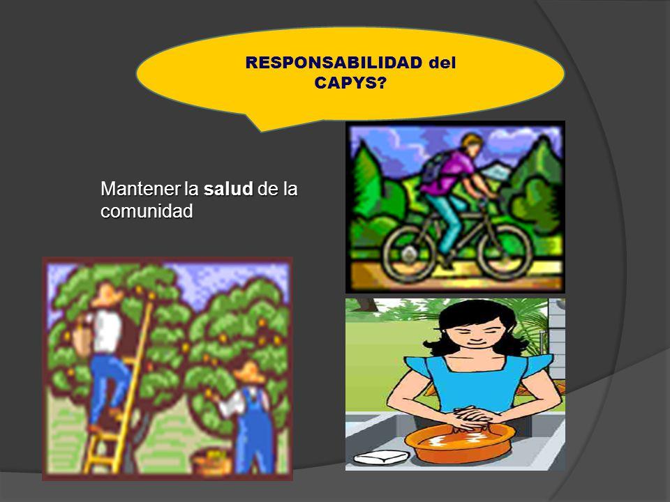 RESPONSABILIDAD del CAPYS