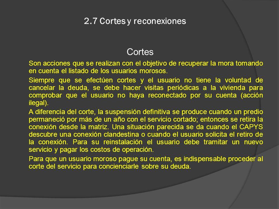 2.7 Cortes y reconexiones Cortes
