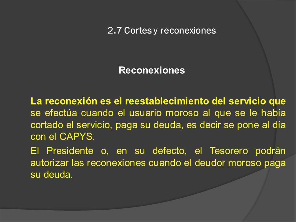 2.7 Cortes y reconexiones Reconexiones.