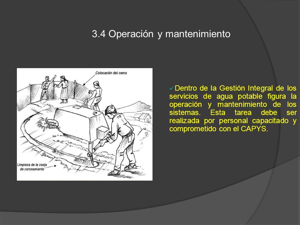 3.4 Operación y mantenimiento