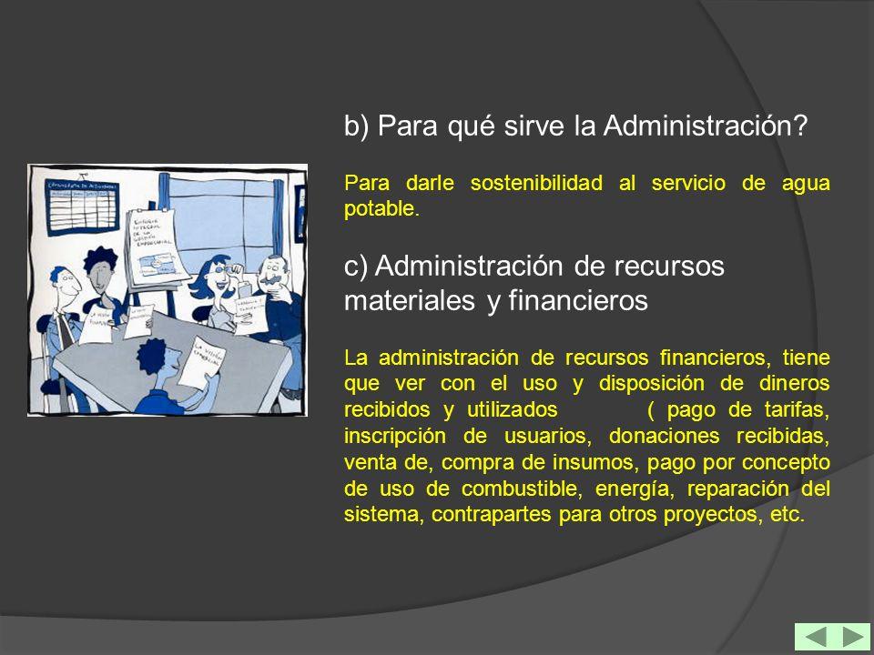 b) Para qué sirve la Administración