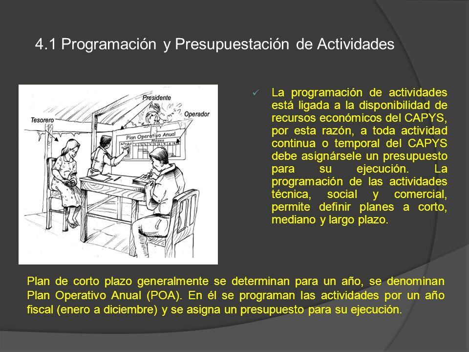4.1 Programación y Presupuestación de Actividades