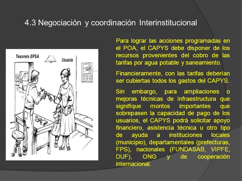 4.3 Negociación y coordinación Interinstitucional