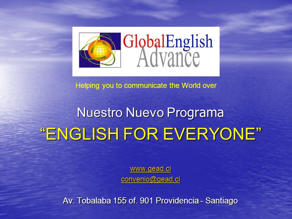 ENGLISH FOR EVERYONE