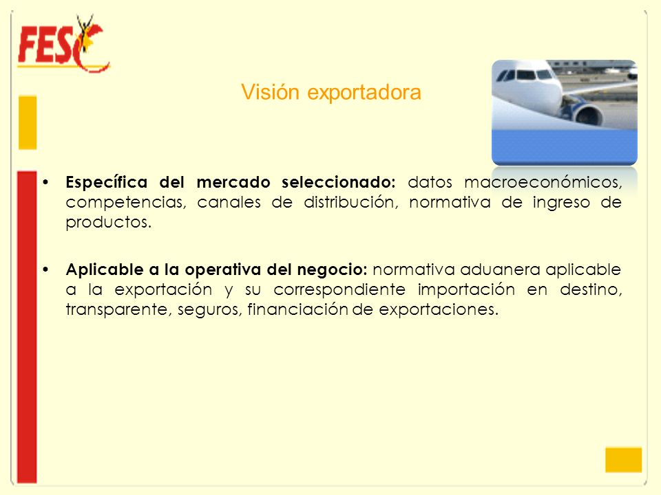 Visión exportadora