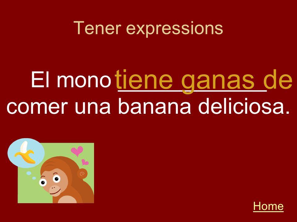 El mono ____________ comer una banana deliciosa.