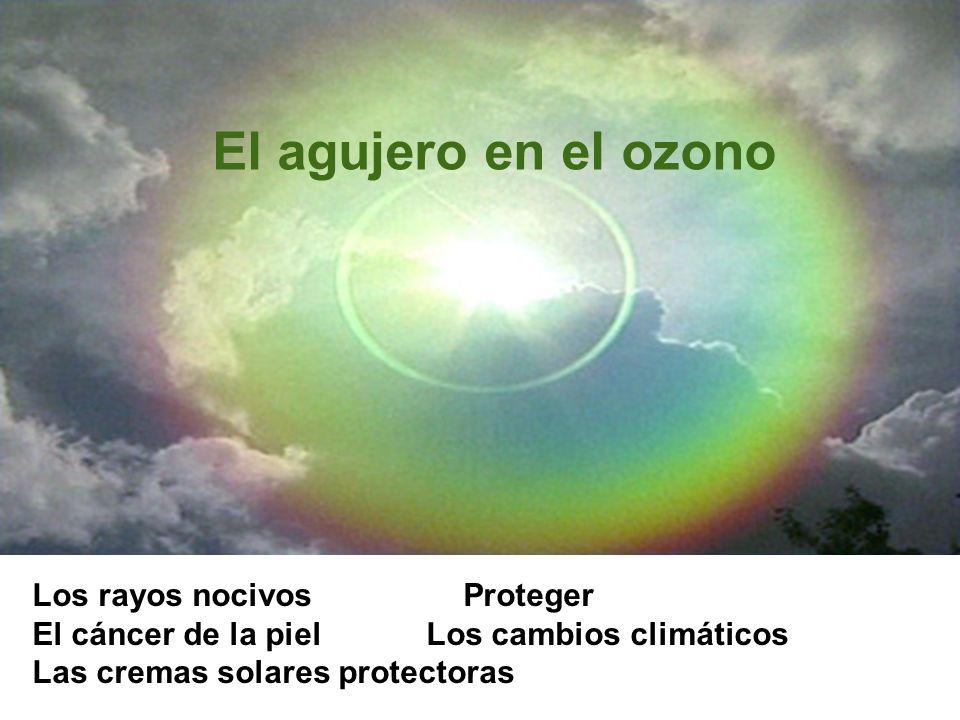 El agujero en el ozono Los rayos nocivos Proteger