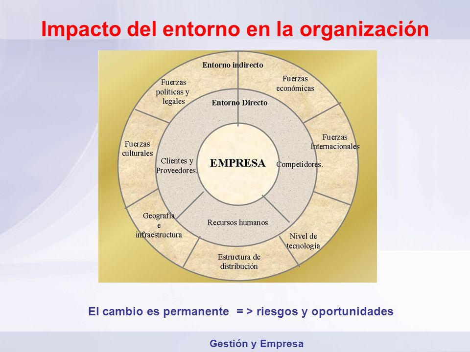 Impacto del entorno en la organización
