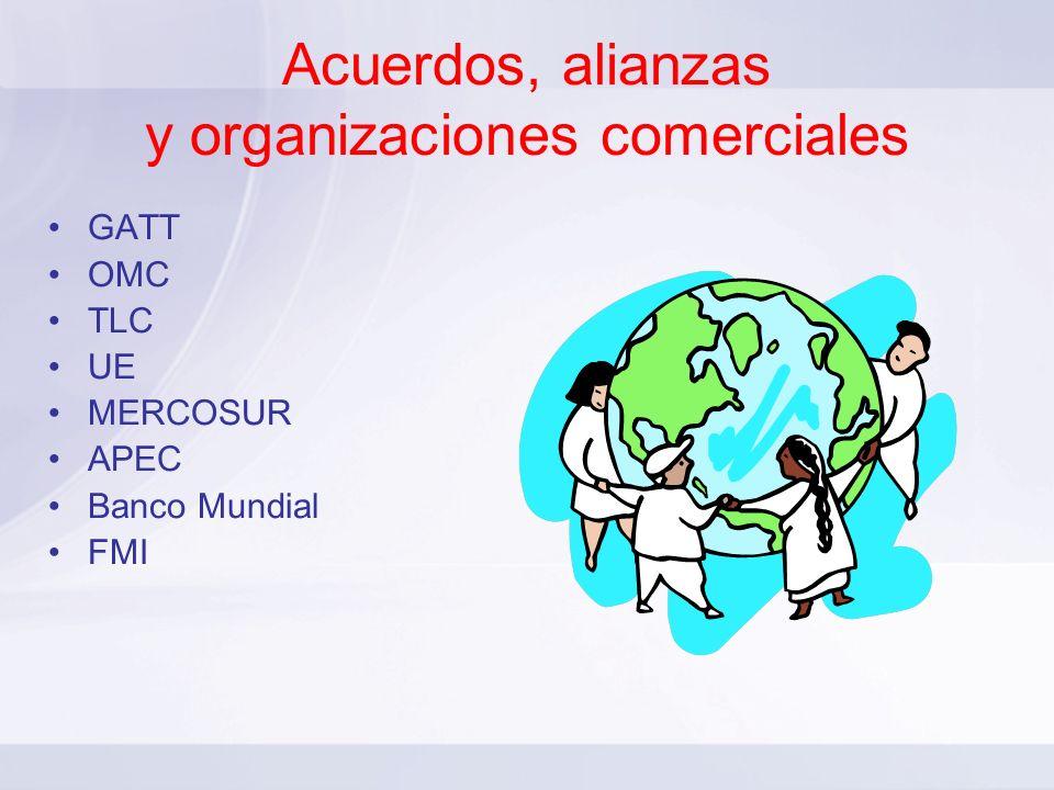 Acuerdos, alianzas y organizaciones comerciales